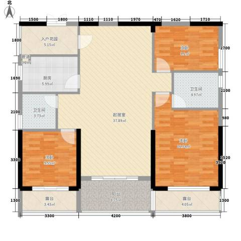 滨海御庭3室0厅2卫1厨150.00㎡户型图