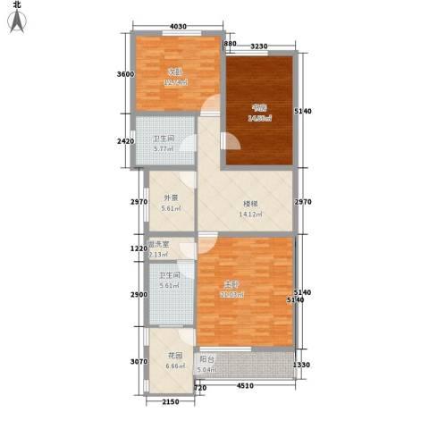 世纪新居3室0厅2卫0厨132.00㎡户型图