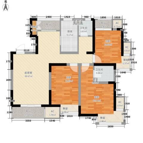 万科新里程3室0厅2卫1厨118.00㎡户型图