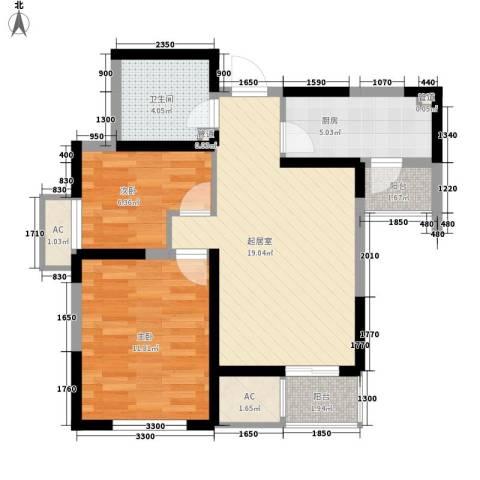 万科新里程2室0厅1卫1厨78.00㎡户型图