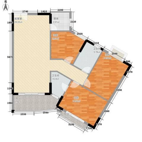海是天下别墅3室0厅2卫1厨140.00㎡户型图