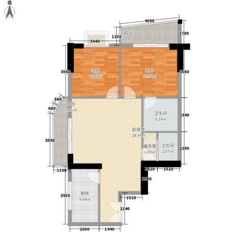 海是天下别墅2室0厅2卫1厨84.00㎡户型图