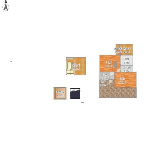 三元四村1室1厅1卫1厨102.00㎡户型图