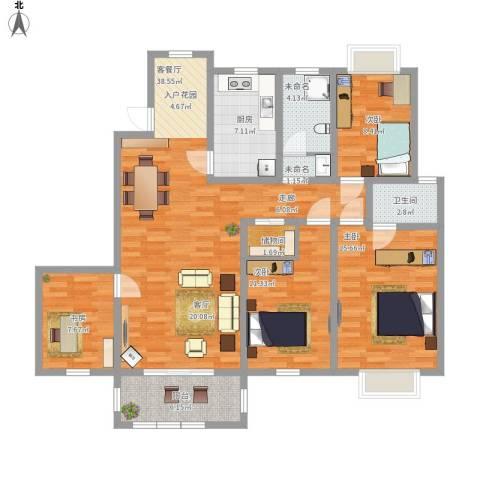 怡和花园4室1厅1卫1厨142.00㎡户型图