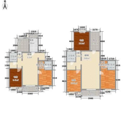北京青年城5室1厅4卫1厨238.00㎡户型图