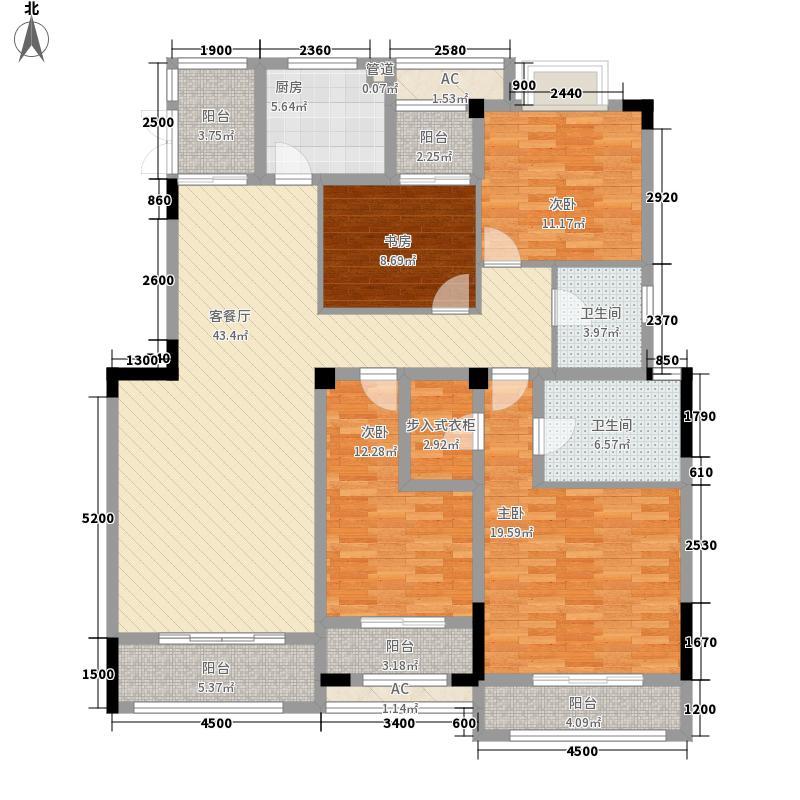 绿地海外滩洋房A2/4F户型4室2厅