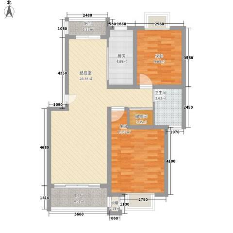 金都雅苑别墅2室0厅1卫1厨98.00㎡户型图