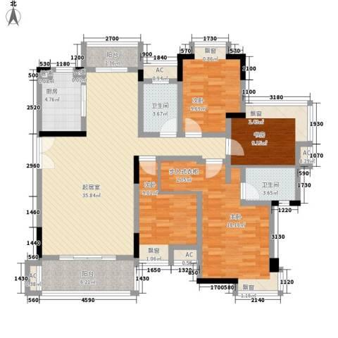 联泰香域滨江4室0厅2卫1厨151.00㎡户型图