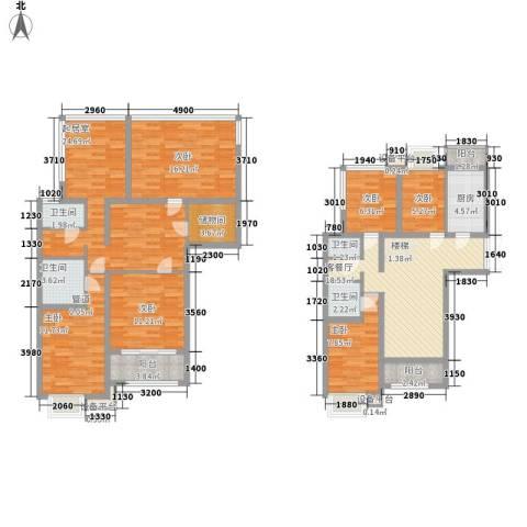 北京青年城6室1厅4卫1厨190.00㎡户型图