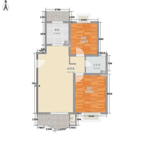 丽都成品2室0厅1卫1厨101.00㎡户型图