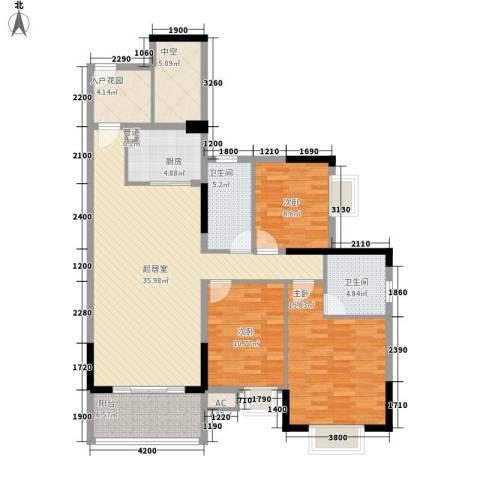 劲嘉山与城3室0厅2卫1厨146.00㎡户型图