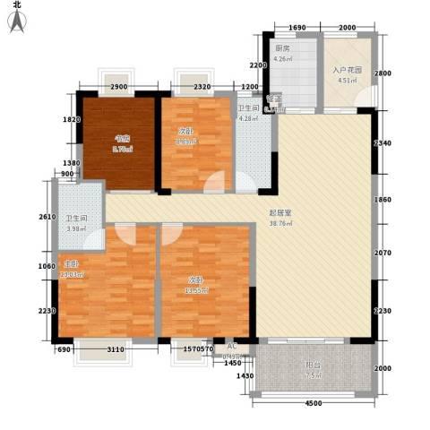 劲嘉山与城4室0厅2卫1厨154.00㎡户型图