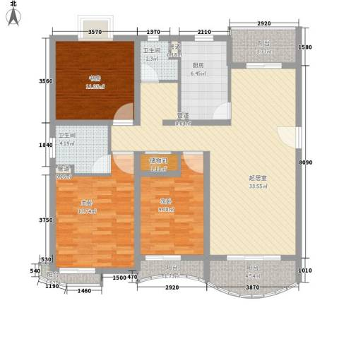 丽都成品3室0厅2卫1厨122.00㎡户型图