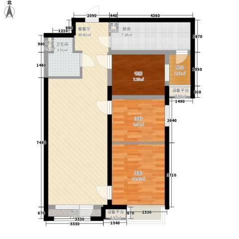 更新小区3室1厅1卫1厨105.00㎡户型图