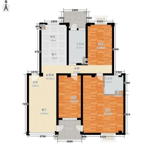 西湖景园2室0厅2卫0厨154.00㎡户型图