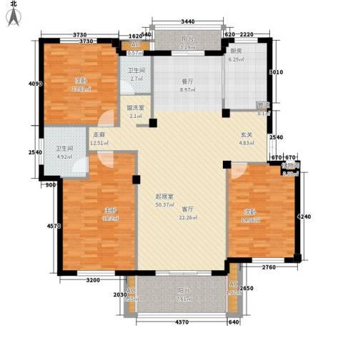 尚南华庭3室0厅2卫1厨137.00㎡户型图