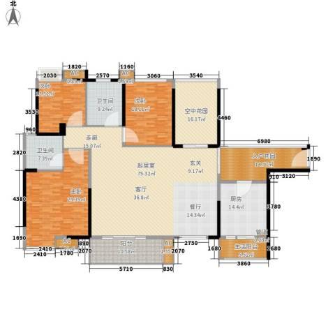 长青城3室0厅2卫1厨240.00㎡户型图