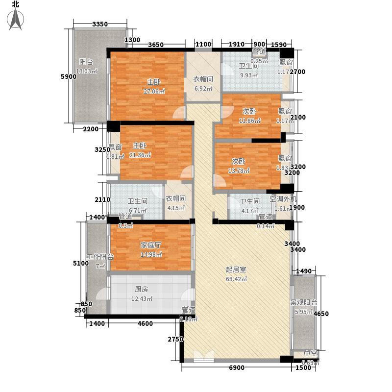 中信红树湾224.21㎡10-1-01户型5室2厅