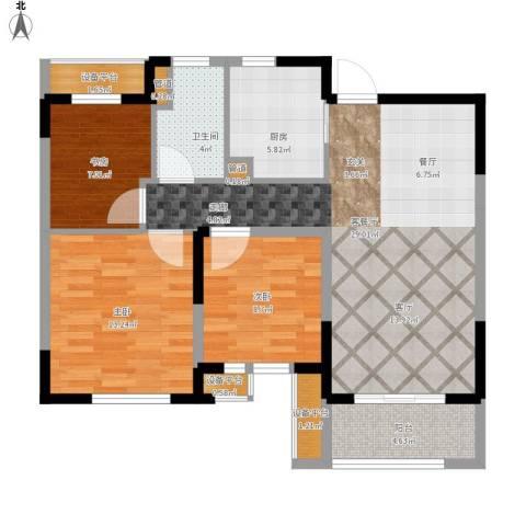 景瑞望府3室1厅1卫1厨110.00㎡户型图