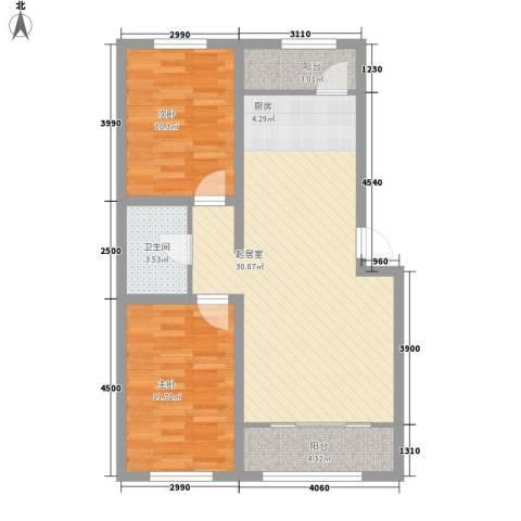 都市左岸2室0厅1卫0厨90.00㎡户型图