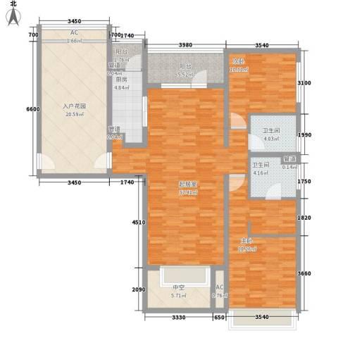 富力丹麦小镇别墅2室0厅2卫1厨125.00㎡户型图
