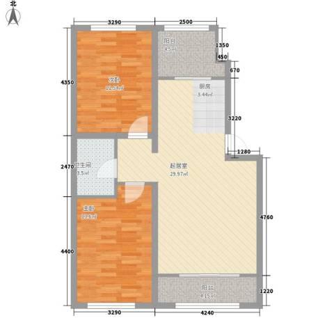 都市左岸2室0厅1卫0厨96.00㎡户型图