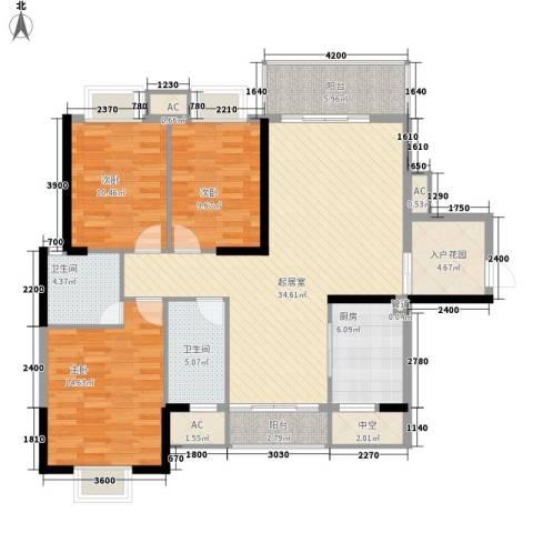 劲嘉山与城3室0厅2卫1厨147.00㎡户型图