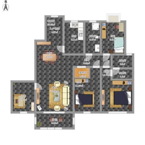 怡和花园4室1厅2卫1厨150.00㎡户型图