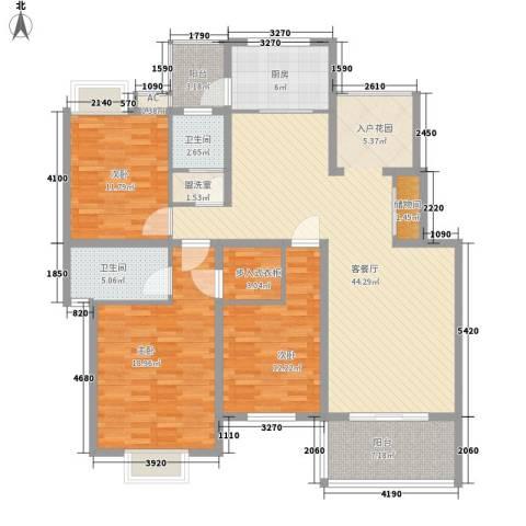 凯悦花园别墅3室1厅2卫1厨168.00㎡户型图
