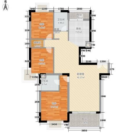 碧云新天地三期3室0厅2卫0厨125.00㎡户型图