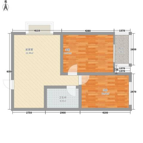 新星花园2室0厅1卫0厨78.00㎡户型图