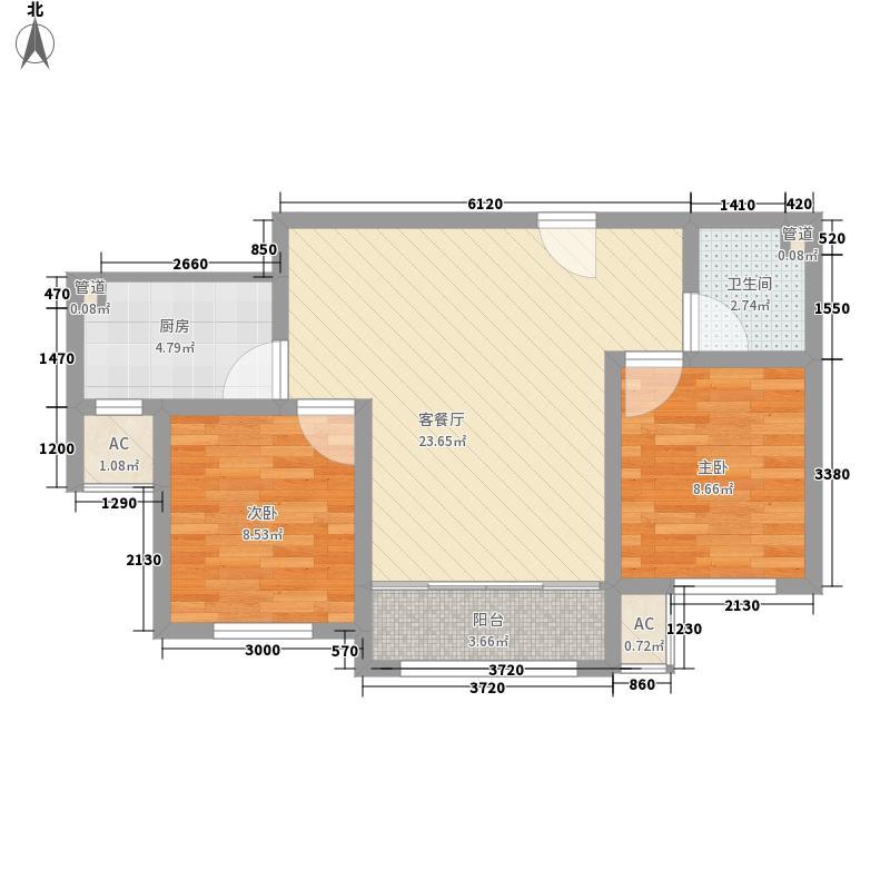 荷花盛世二期79.00㎡荷花盛世二期户型图B户型2室2厅1卫1厨户型2室2厅1卫1厨