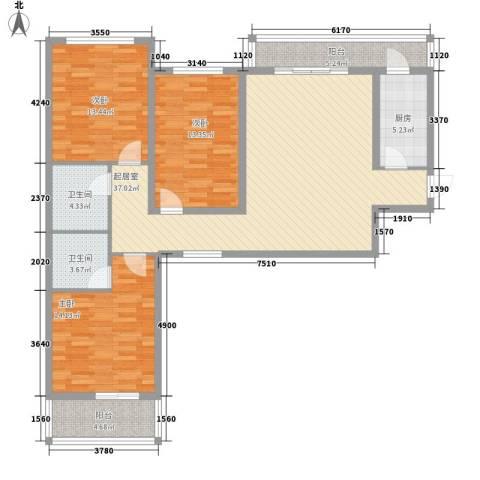 新星花园3室0厅2卫1厨145.00㎡户型图