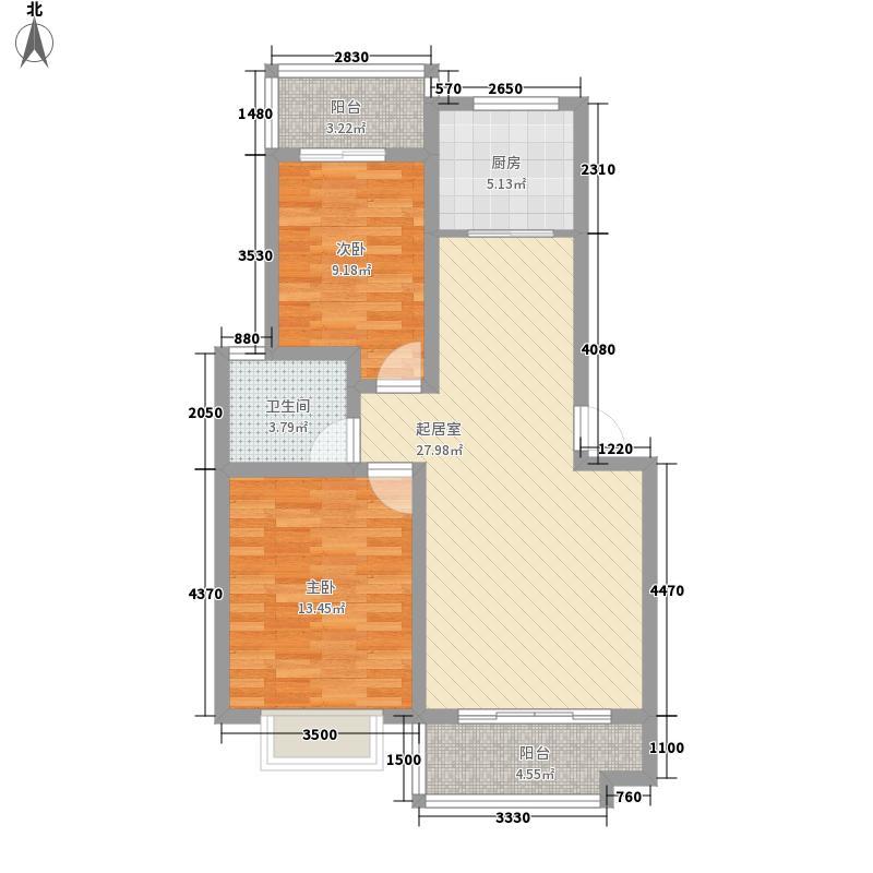 万鸿城市花园98.00㎡万鸿城市花园2室户型2室