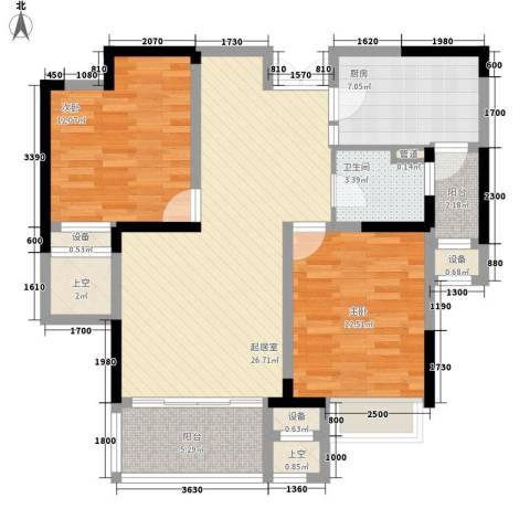 恒基九珑天誉2室0厅1卫1厨94.00㎡户型图