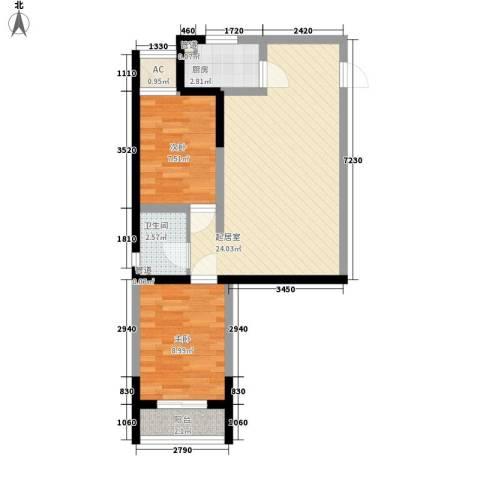 西兴小区2室0厅1卫1厨73.00㎡户型图