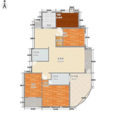 泊爱蓝岛4室0厅2卫1厨189.00㎡户型图