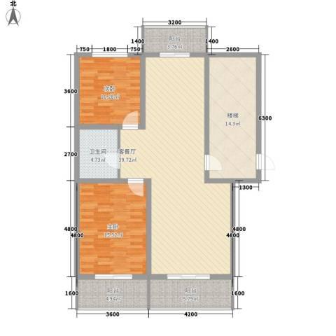 美章佳苑2室1厅1卫0厨108.00㎡户型图