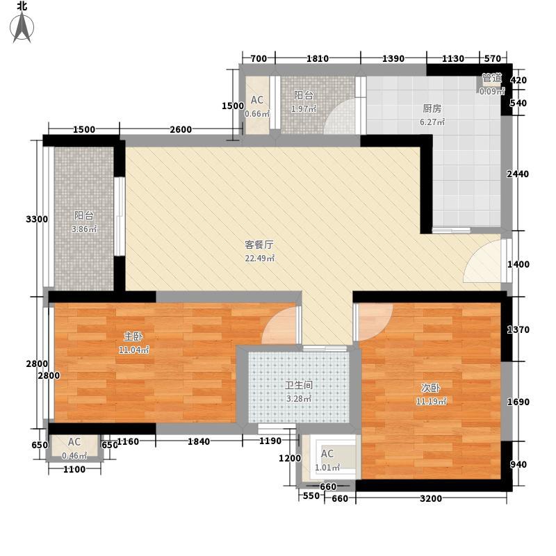 融锦城2栋B8户型10室