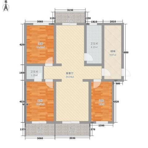 美章佳苑3室1厅2卫0厨138.00㎡户型图