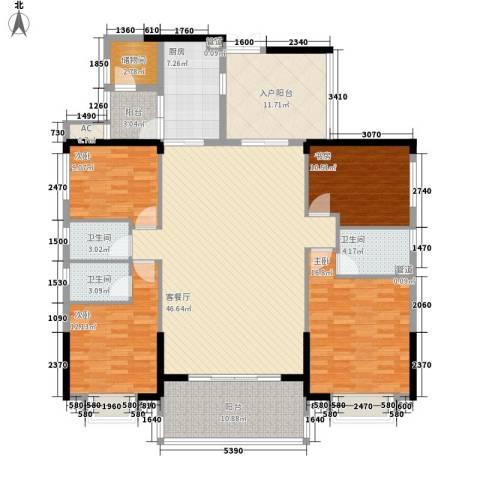 珠光新城御景4室1厅3卫1厨199.00㎡户型图