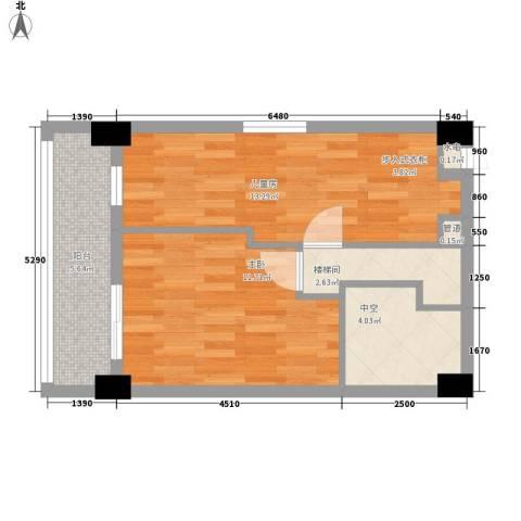 慧晶国际公寓2室0厅0卫0厨56.00㎡户型图