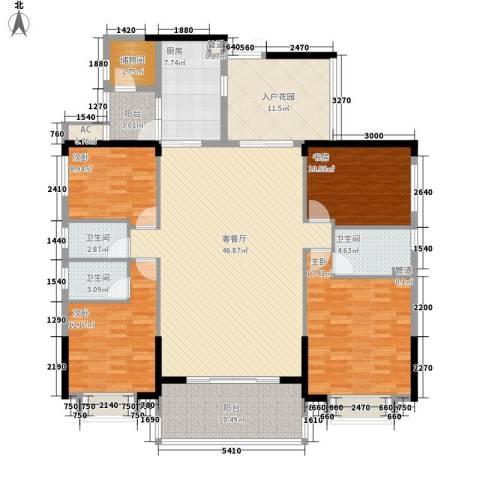 珠光新城御景4室1厅3卫1厨200.00㎡户型图