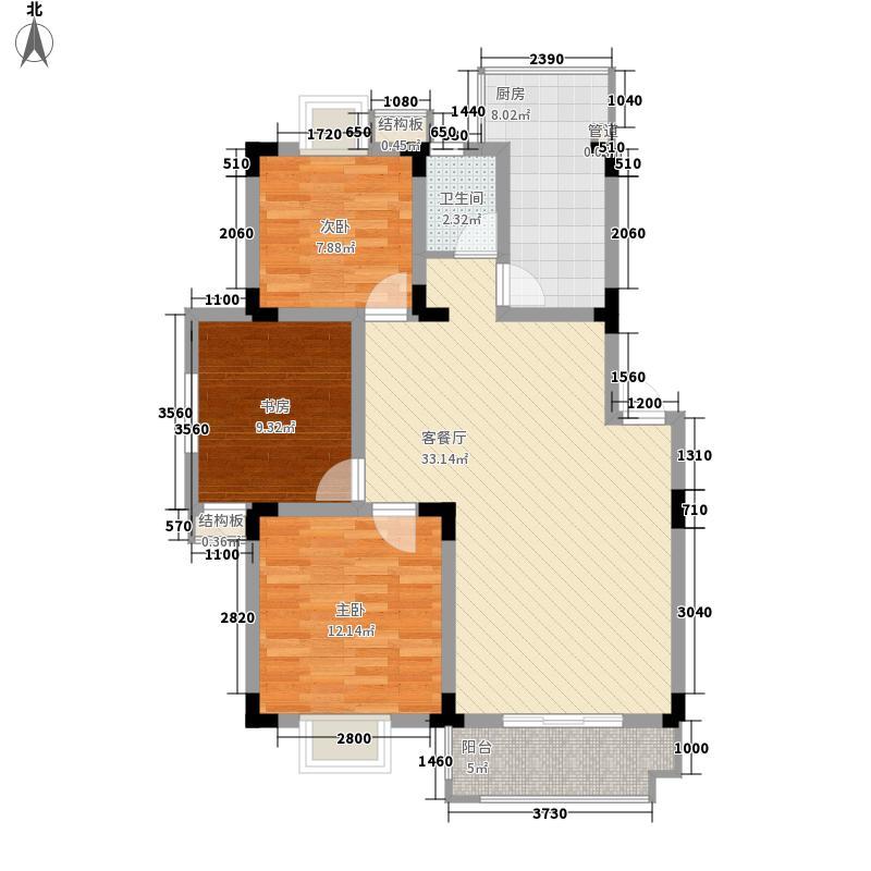 新安江花园112.00㎡新安江花园户型图3室2厅1卫1厨户型10室