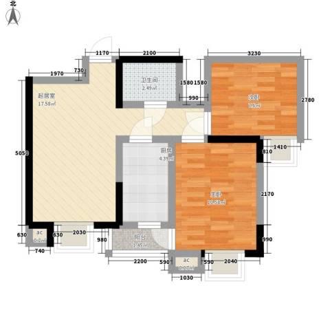宝文都市公寓2室0厅1卫1厨45.00㎡户型图
