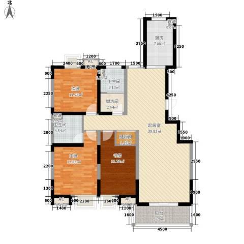 顺义金宝城3室0厅2卫1厨143.00㎡户型图