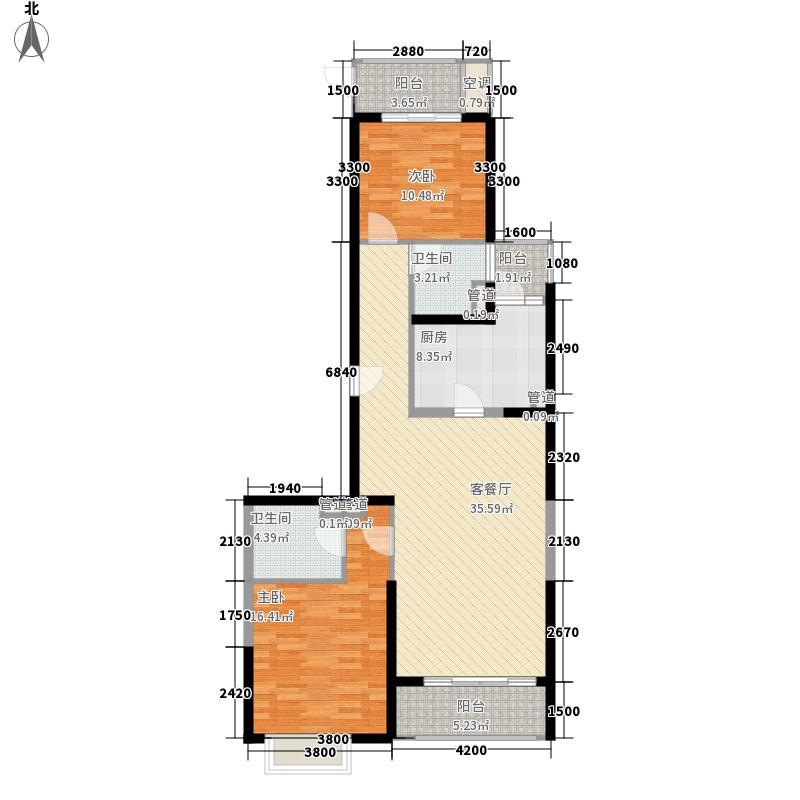 凤岗东江花园 2室 户型图