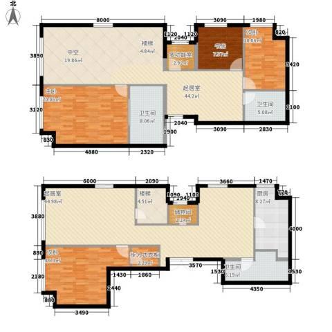 星海大观(沿海国际中心二期)4室0厅3卫1厨252.00㎡户型图