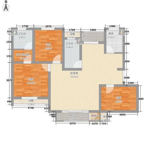 盛达家园3室0厅2卫1厨123.00㎡户型图