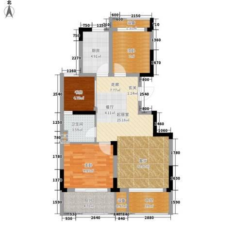 塞纳蓝湾3室0厅1卫1厨85.00㎡户型图